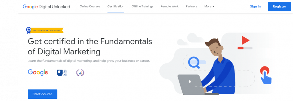 Googles Free Courses with Certification