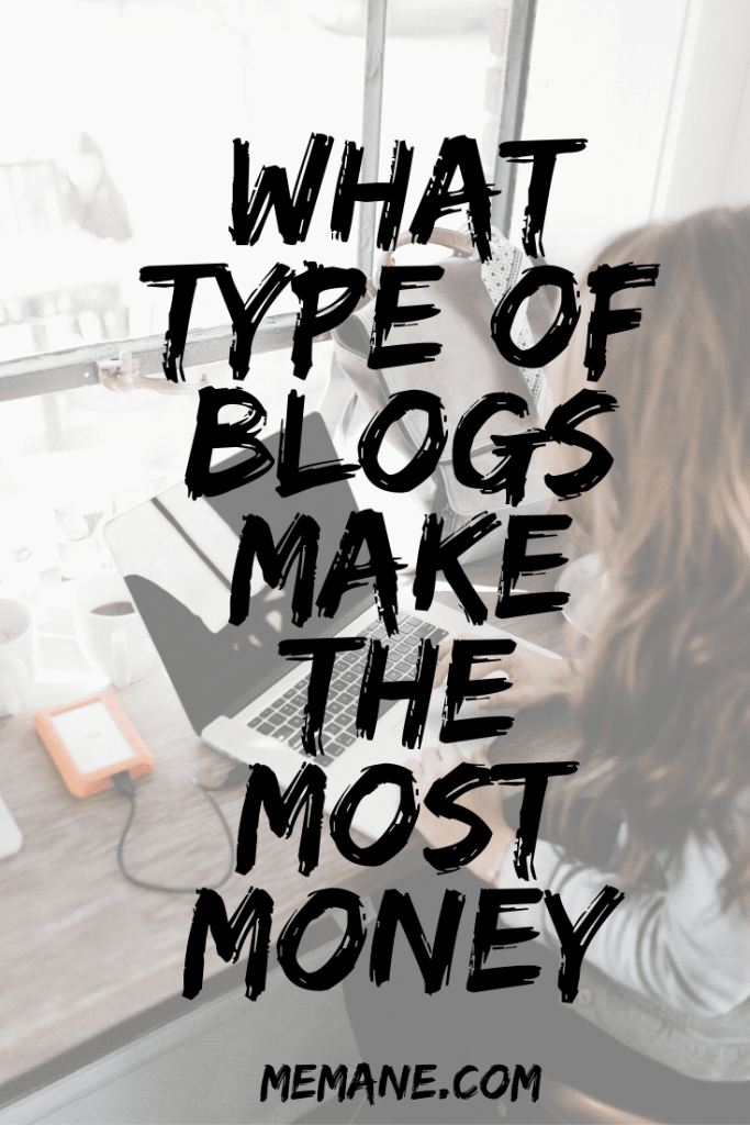 What type of blogs make the most money
